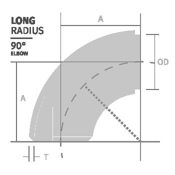 Norme ASTM A403 ASTM B366 ASTM A815 Era Fittings LONG-RADIUS