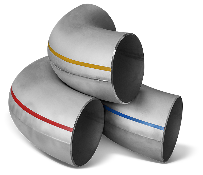 Certified quality stainless steels welded elbows COLOR CODE Era Fittings